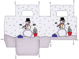 moldes de caixinhas de natal