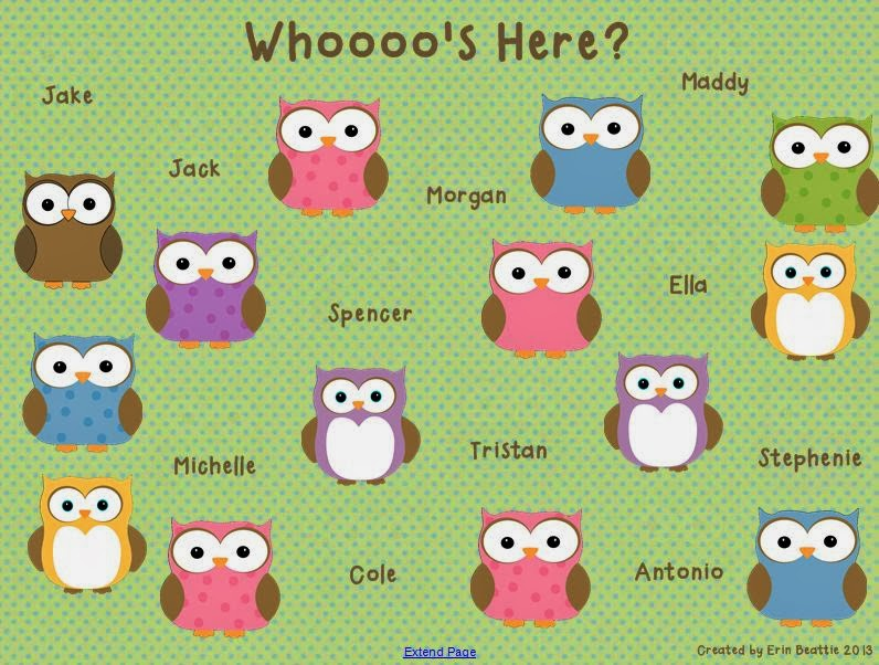 http://www.teacherspayteachers.com/Product/Owl-Theme-Attendance-for-SMART-Board-545969