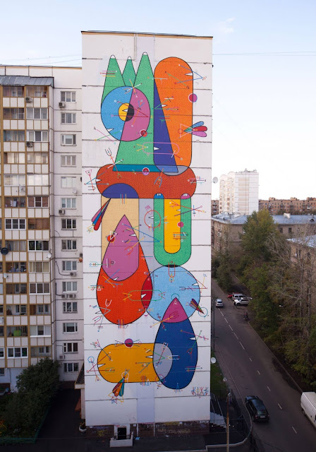 Street Art By Sixes Paredes For LGZ Festival In Moscow, Russia. 3