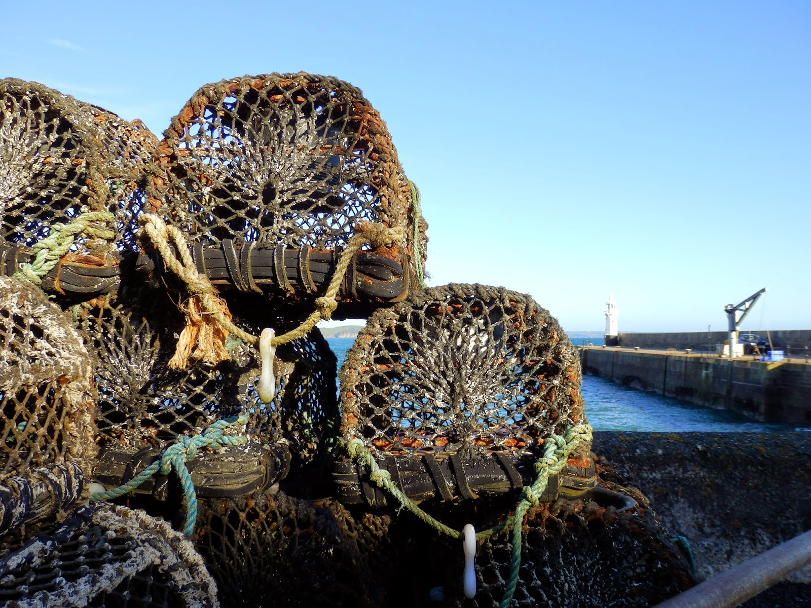 Lobster Pots in Cornwall