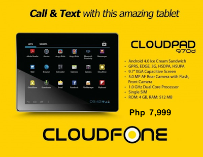 CloudPad 970d Specs, Price