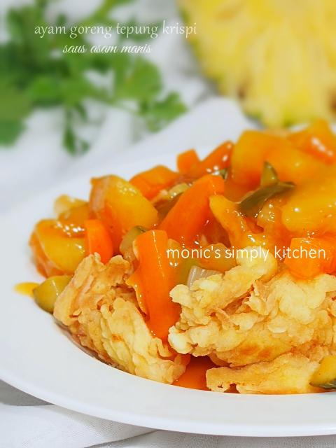 resep ayam tepung saus asam manis