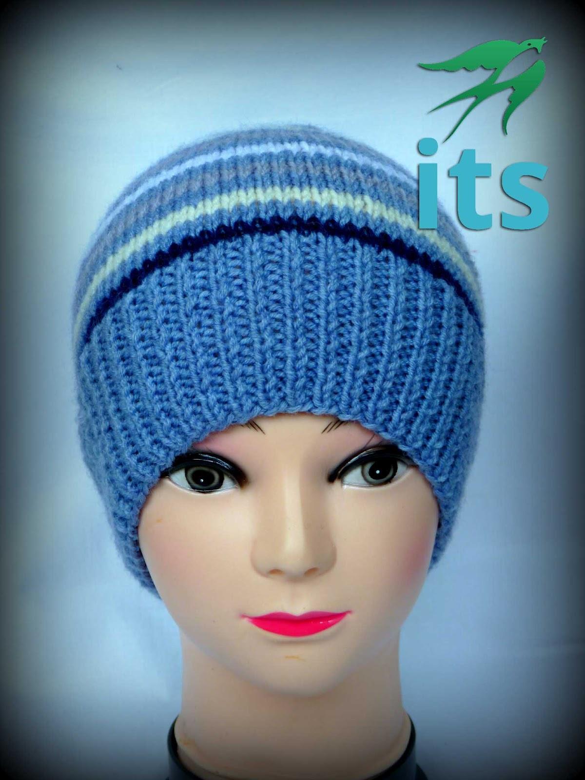 Вязание спицами полосатые шапки 52