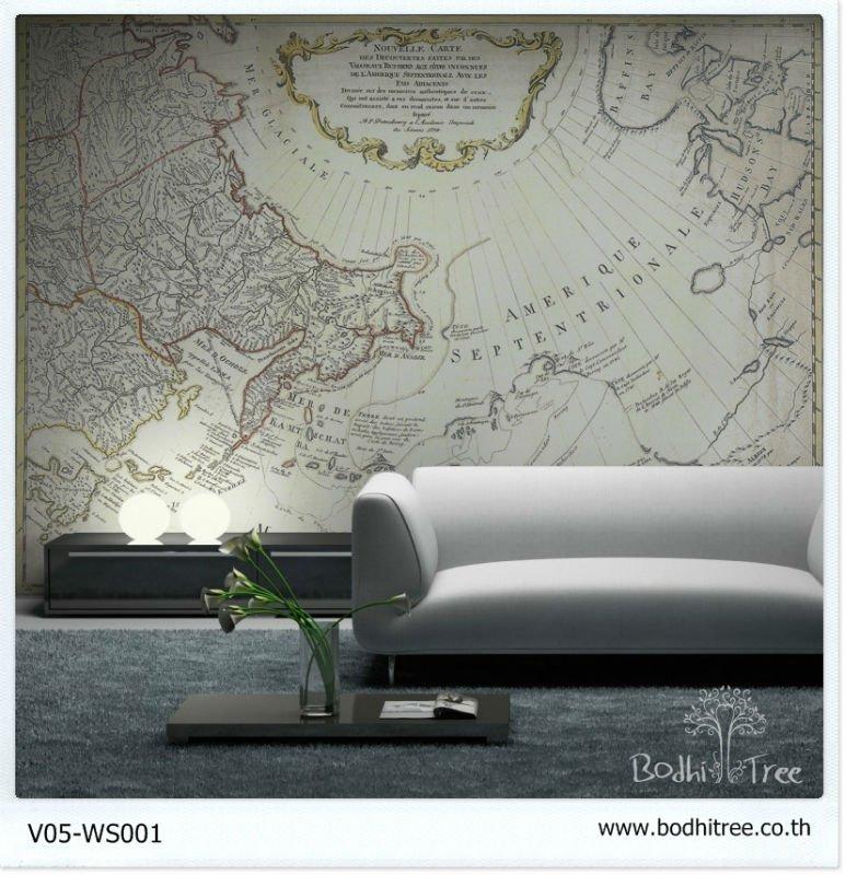 Decoraci n f cil papel pintado de mapamundis - Papel pintado mapa ...