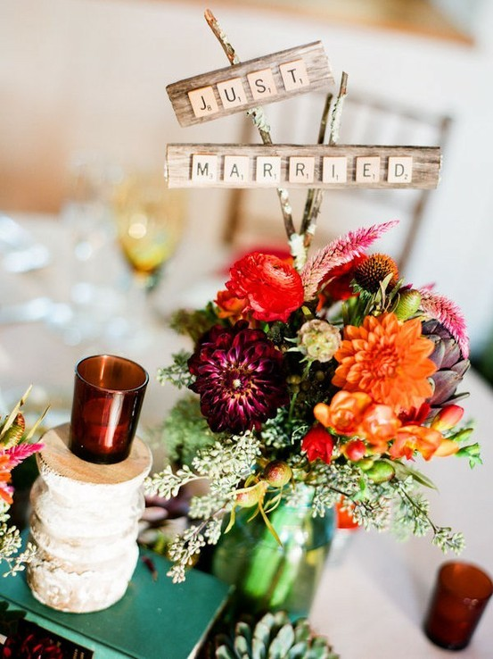 I love all things garden partyish for a wedding and this centerpiece is