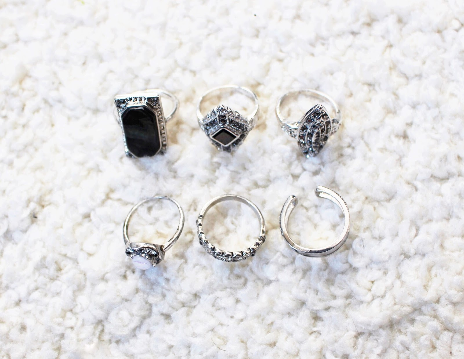 topshop haul, rings