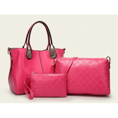 AA FASHION BAG ( ROSE RED)