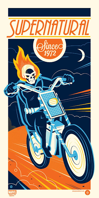 "Ghost Rider ""Supernatural Since 1972"" Marvel Screen Print by Dave Perillo"