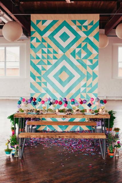 Yi Wei Lim, yiweilim, yiweilim blogspot, sarahparkdesigns, sarah park designs, geometric, geometric design, geometric art, geometric home decor, geometric accessories, wedding backdrop, ceremony backdrop, backdrop, aztec, print, etsy, aquamarine, teal, geometric