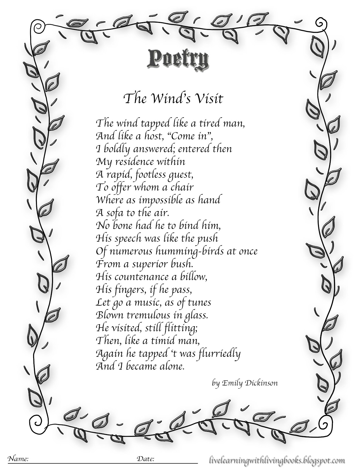 emily dickinson analysis of poem 764 Reflections on dickinson 598 that i'd share a dickinson poem and some of my i love your concise and articulate analysis here my mom named me after emily.
