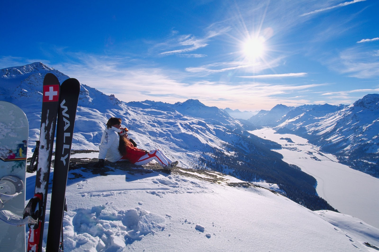 Tourist Destination St Moritz Switzerland  Winter