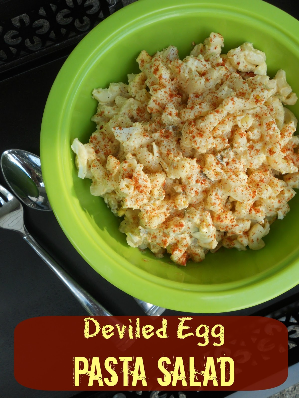 Ally's Sweet and Savory Eats: Deviled Egg Pasta Salad