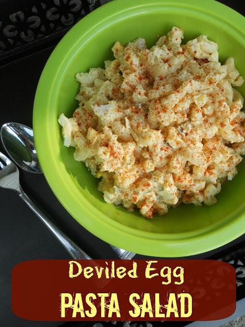 deviled egg pasta salad (sweetandsavoryfood.com)