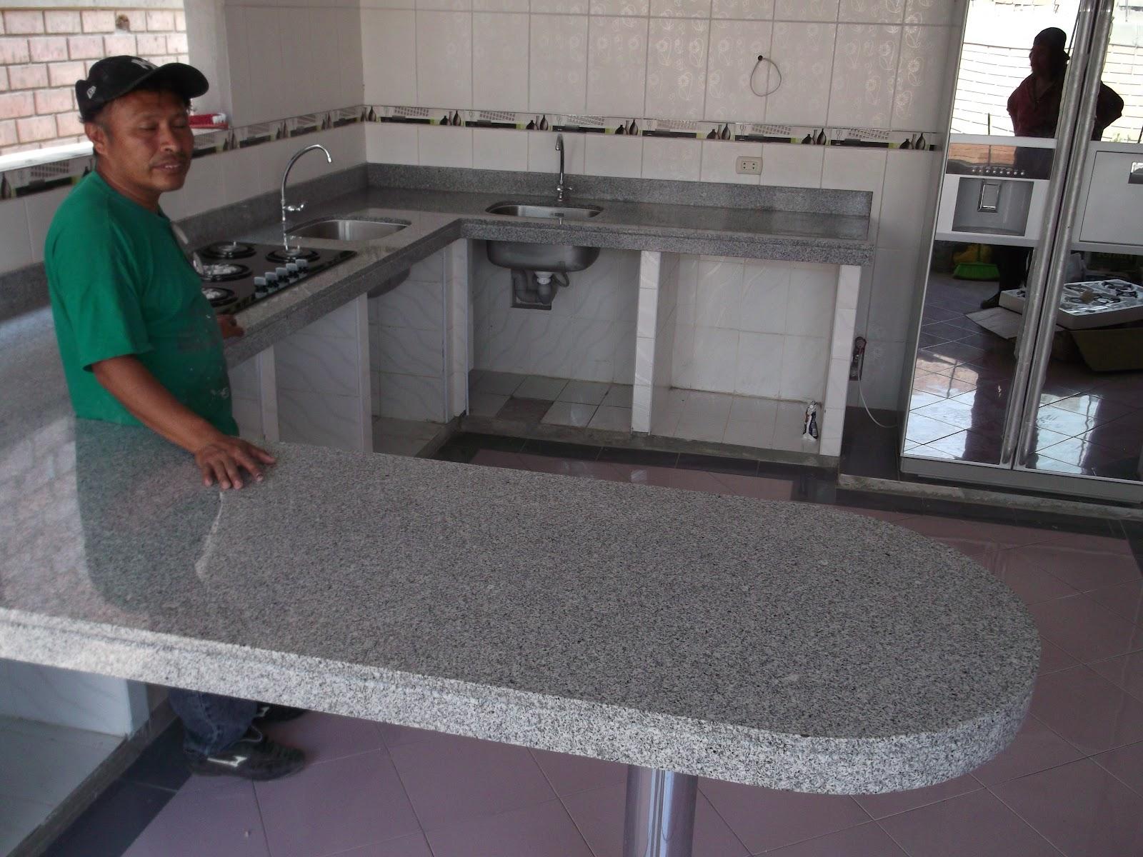 Topes encimeras cubiertas cocina marmol granito cuarzo lima for Como se vende el granito