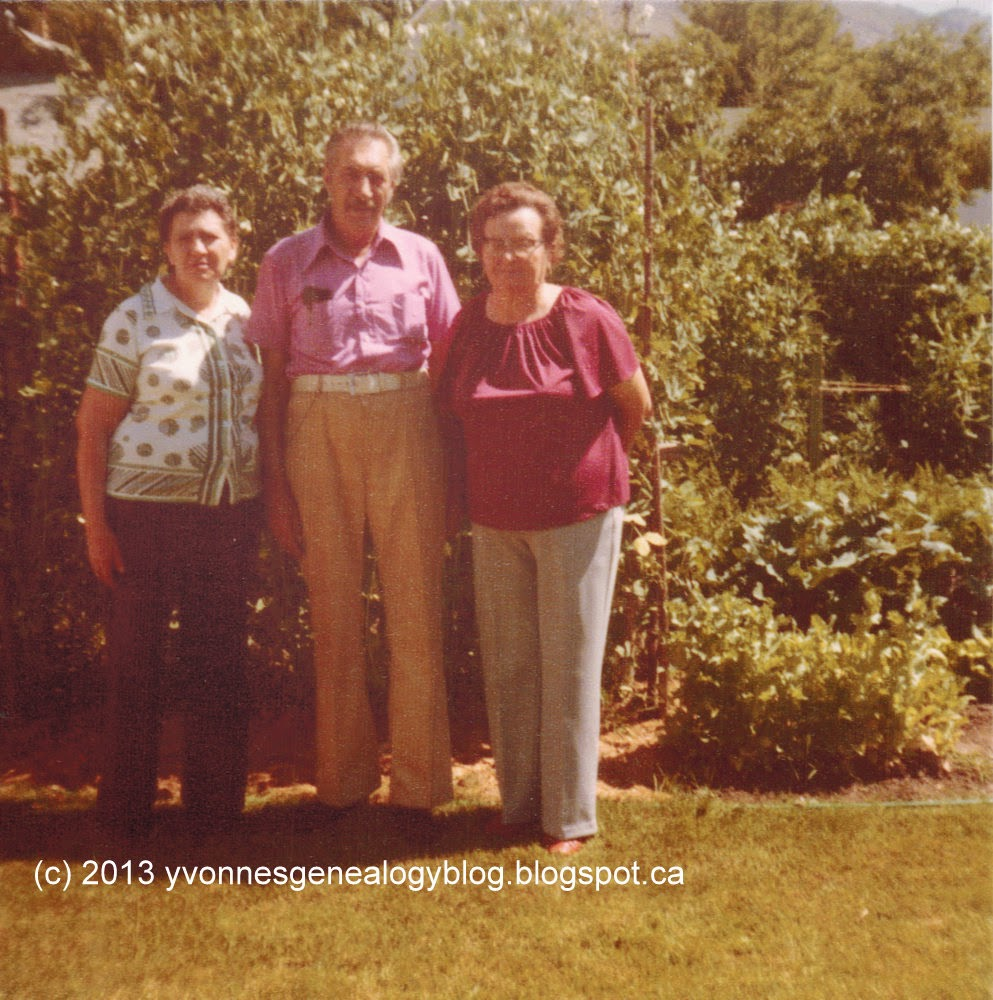 Ann with her brother Pete and his wife Lucy in 1980