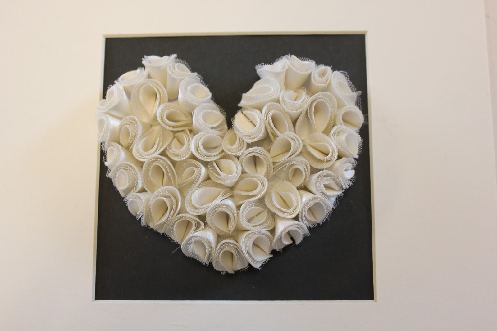 Framed Wedding Dress Heart | Lorna Syson