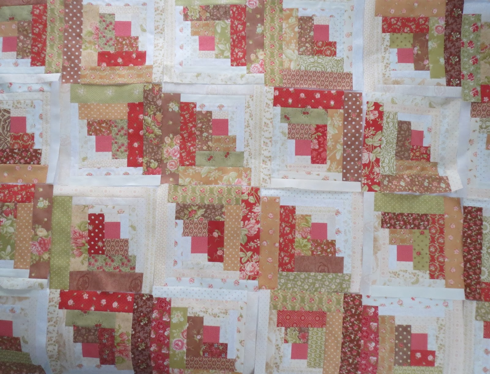 Amazing photo of Quilting on Main Street Log Cabin Quilt Block Settings with #96353A color and 1600x1220 pixels
