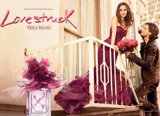 vera wang perfume ads. Meester is wearing a Vera Wang