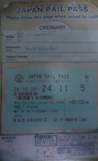 Photo of the new Japan rail pass (Back)