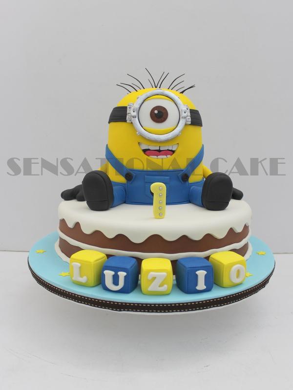 MINION 3D NAKED CAKE SINGAPORE # CUSTOMIZED 3D SUGAR CRAFTING BIRTHDAY