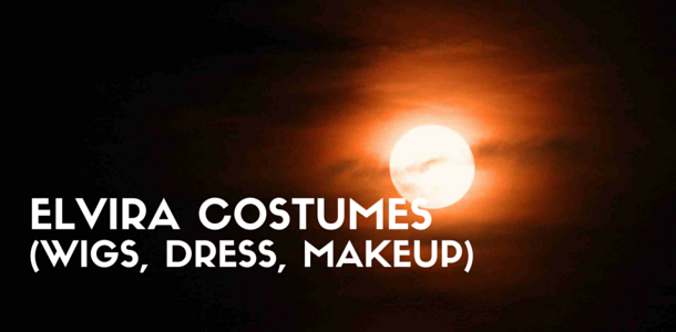 Elvira Costume - Wigs, Full-Length Dress, Makeup Tutorial