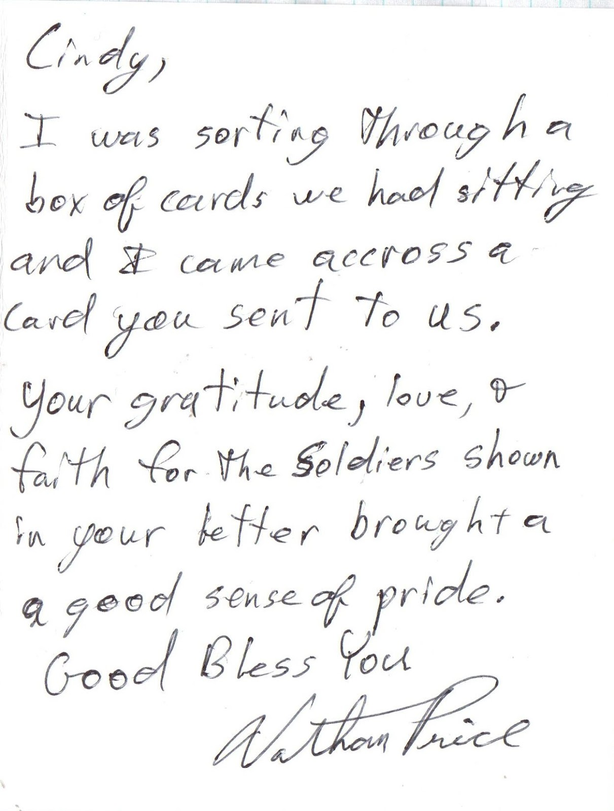 i havent ever needed confirmation on why i make cards for operation write home and send any hero letters to our soldiers overseas but let me tell you the