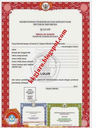 Revisi SHUN Dan Bentuk Ijazah Tahun 2014/2015 Dari Litbang Kemdikbud