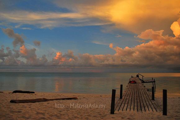 Sabah Sunset Mantanani Island