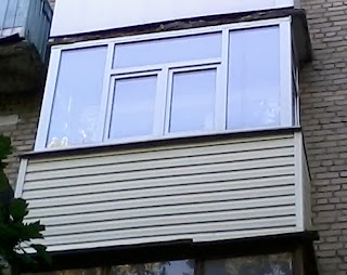 ПВХ профиль на балконе
