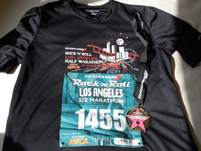 LA Rock'n'Roll shirt and medal 2011