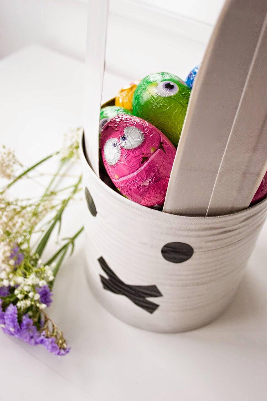 Taller de creactividad: Diy conejo para lo huevos de Pascua en una lata1