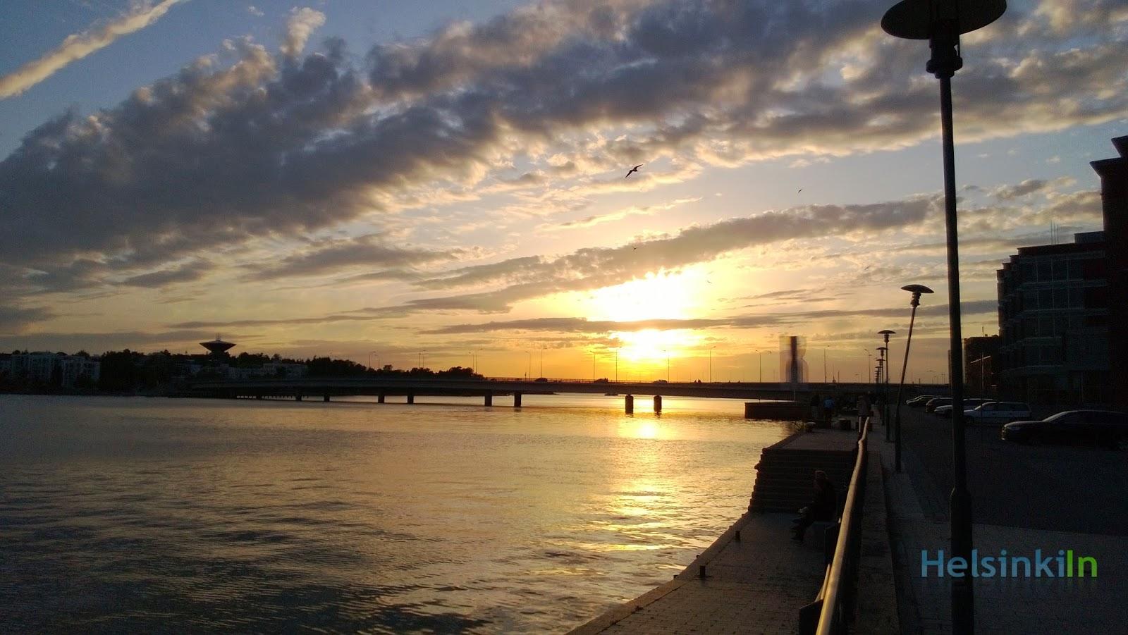 sunset over Lauttasaari