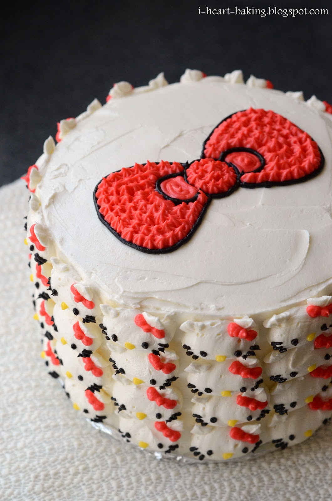 Hello kitty cake pink ombre cake with whipped chocolate ganache and