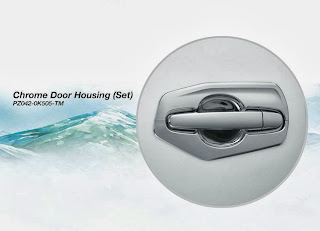 chrome door housing