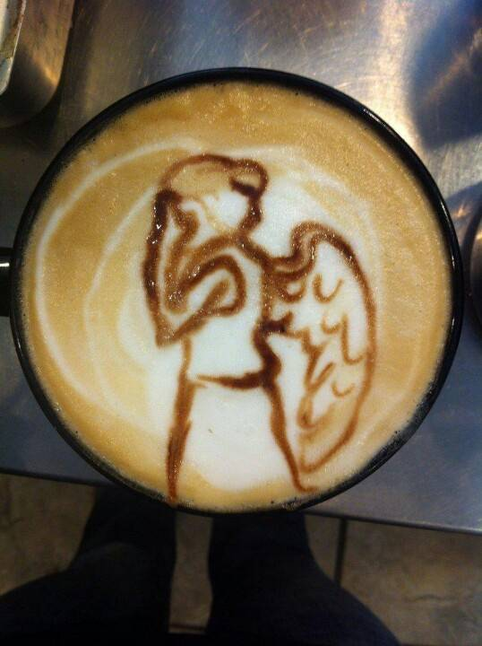Weeping Angel Latte art