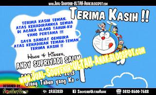 Thanks Card Doraemon Sample Tema Design Thanks Card (Kartu Ucapan Terima Kasih)