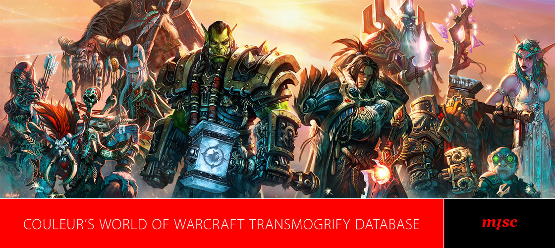 Couleur's Word of Warcraft Database - Miscellaneous
