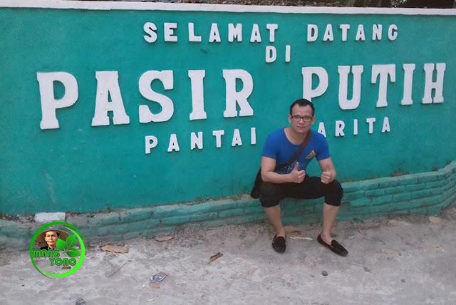 FOTO : Selamat Datang Kang Asep AS di Pantai Pasir Putih Carita, Banten