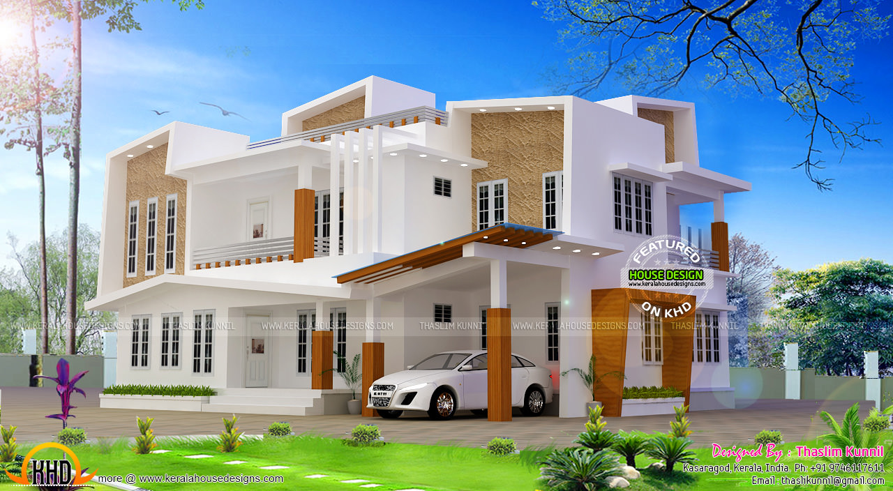 243 sq m modern contemporary house kerala home design for New modern homes kerala