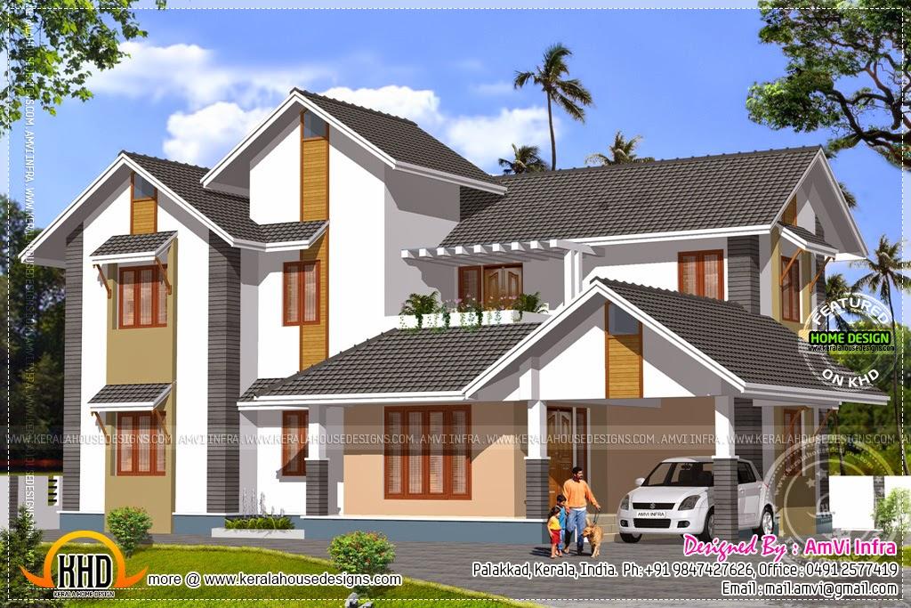 Elevation Plan Roof : Kerala home design and floor plans plan