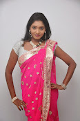 Actress Nisha Latest Photos in Pink saree-thumbnail-15