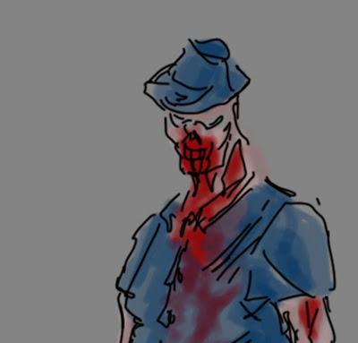 douglas deri, deri, deriart, sketch, sketcbook, the walking dead, twd, blood, dead walking, desenho, digital ink, draw, homenagem, mortos, mortos vivos, pintura digital, sangue, seriado, walking dead