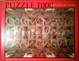 The_Ceiling_of_Sistine_Chapel_musei_di_vaticani_1000_parça_puzzle_kutu_box
