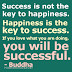 Happiness Equals Success?
