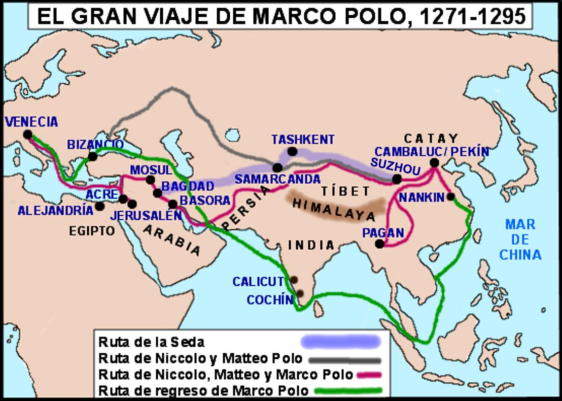 HISTOGEOMAPAS: MARCO POLO Y SU VIAJE A ORIENTE