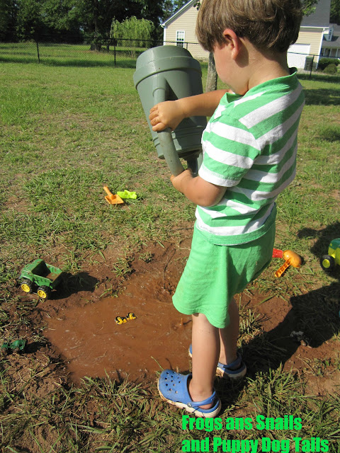 Mud, Mud, Mud- classic kid activity  (Happy International Mud Day)