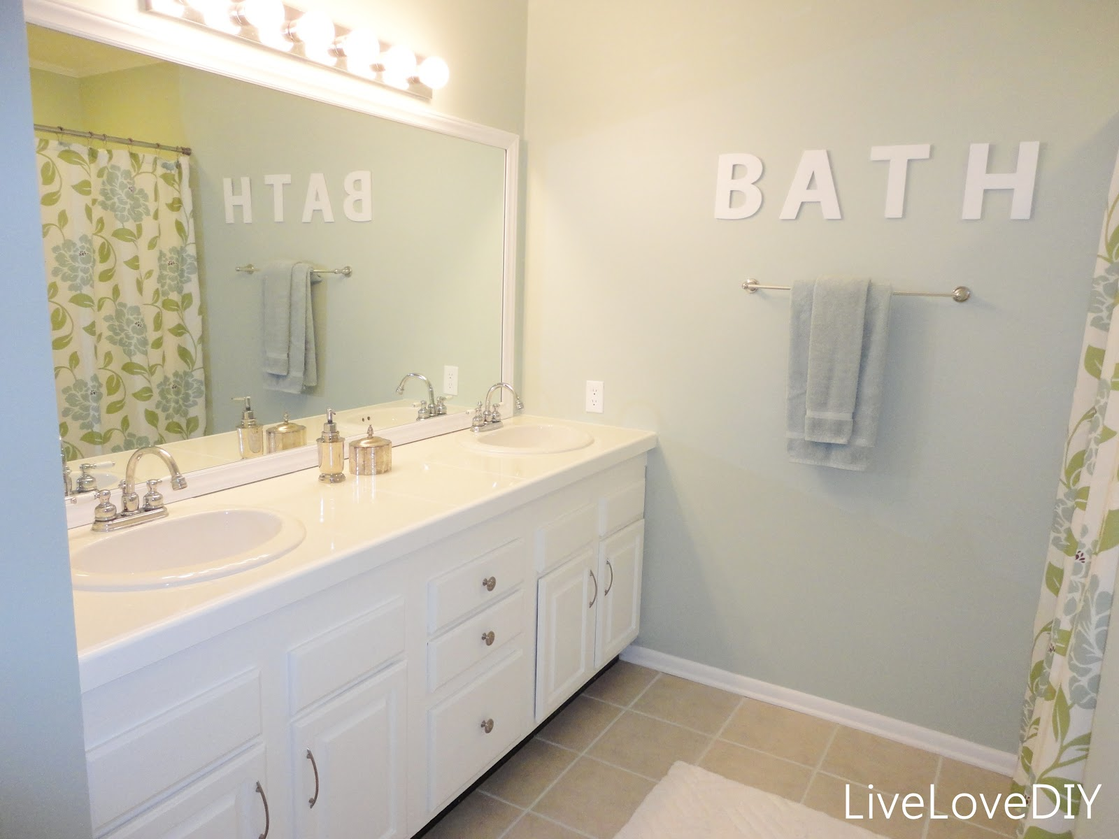 LiveLoveDIY Painting Trim Walls What You Need To Know - Valspar bathroom paint