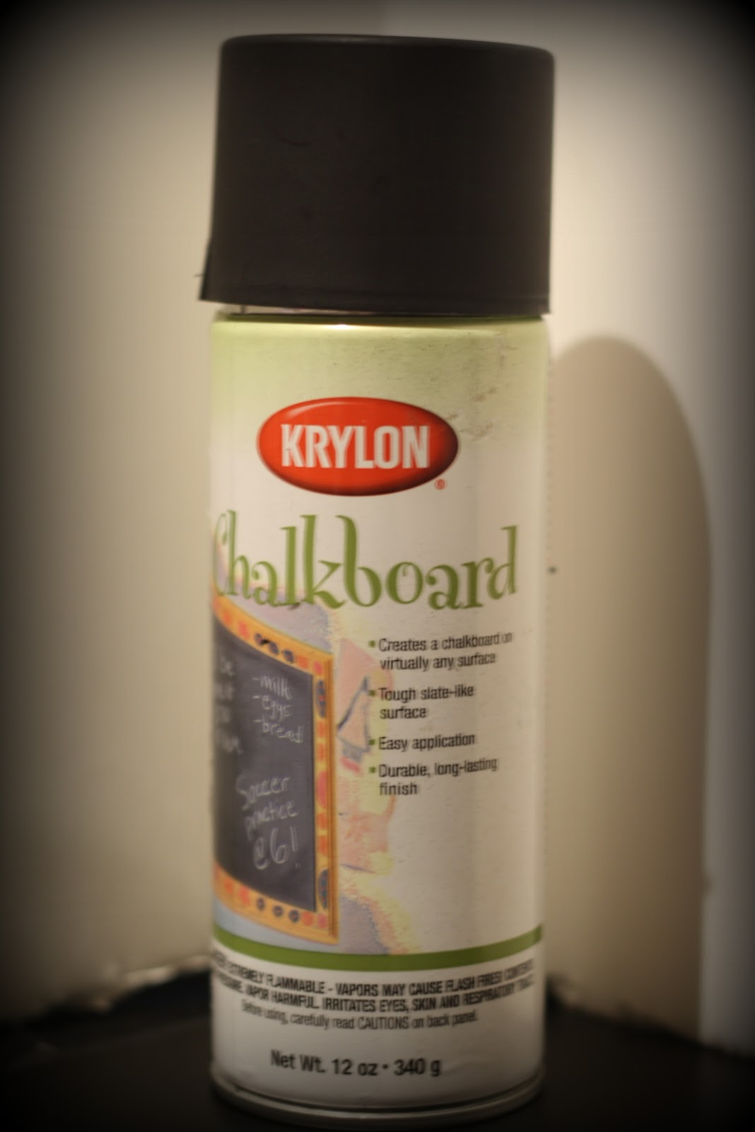 can of krylon chalkboard spray paint. Black Bedroom Furniture Sets. Home Design Ideas