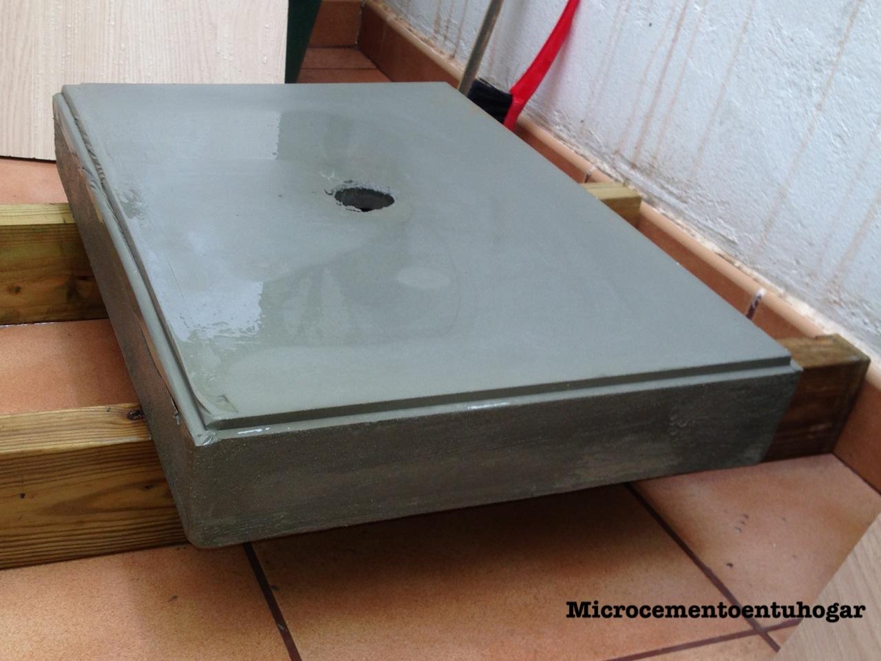 Microcemento en tu hogar mueble lavabo for Hacer mueble lavabo