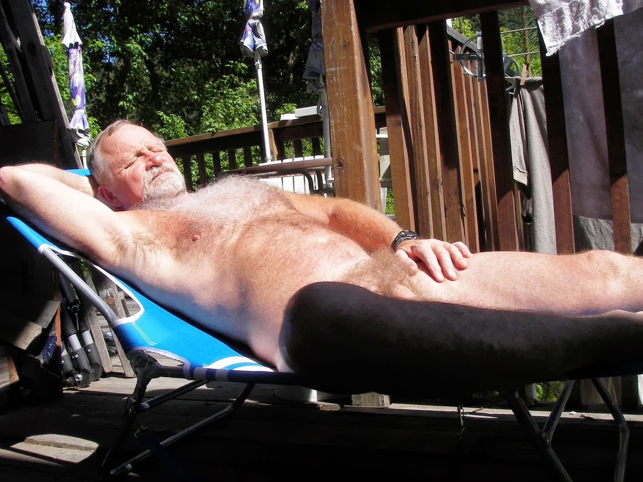 Nude Older Men Outdoor